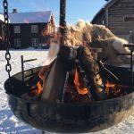 Vinterlig bålpanne på Ullsaker Panorama