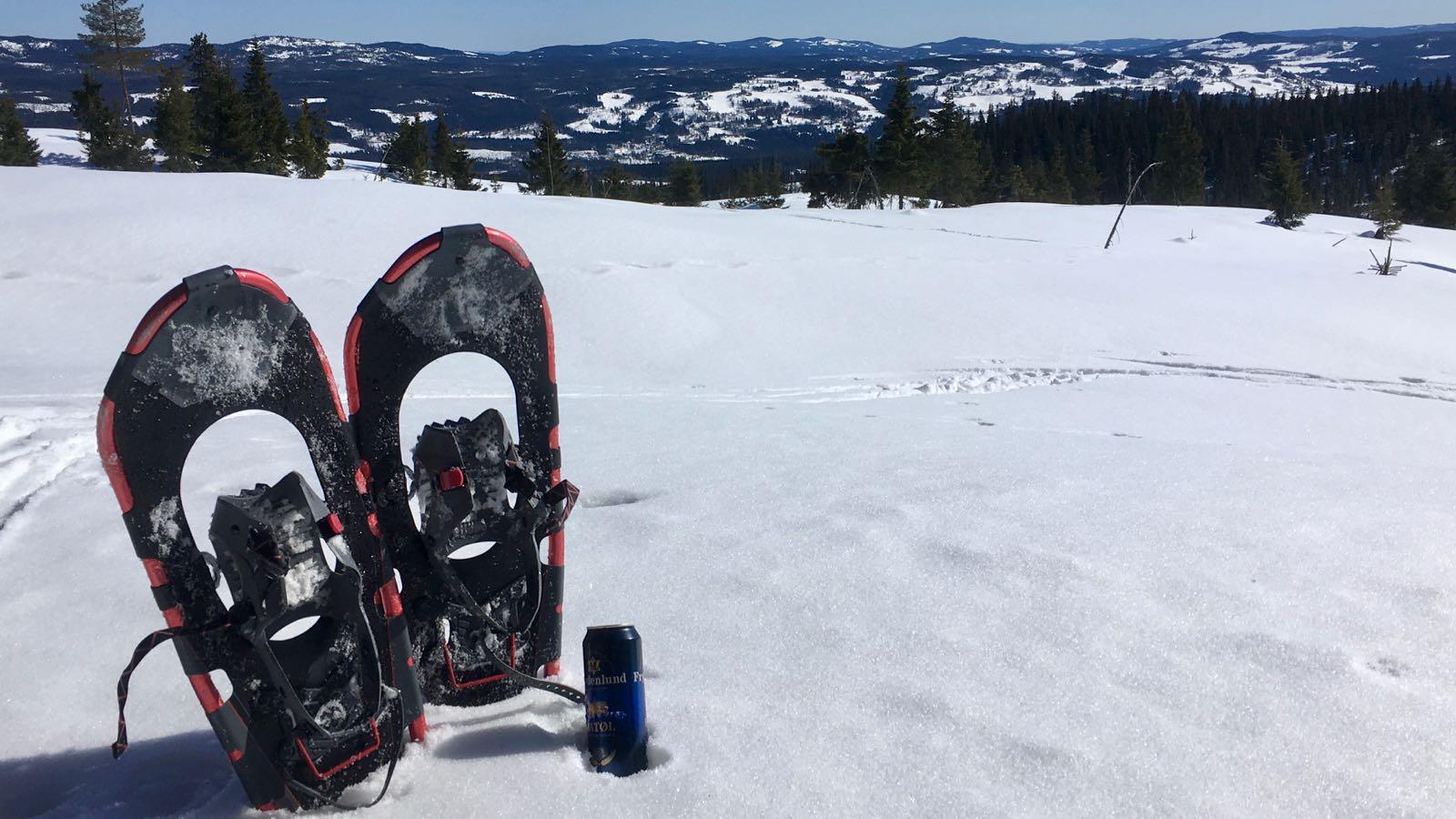 Truger kan gi fine opplevelser - her en hvil i snøen