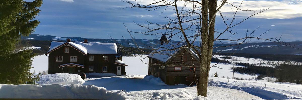 Utsikt fra bålplassen på Ullsaker utleiehytte