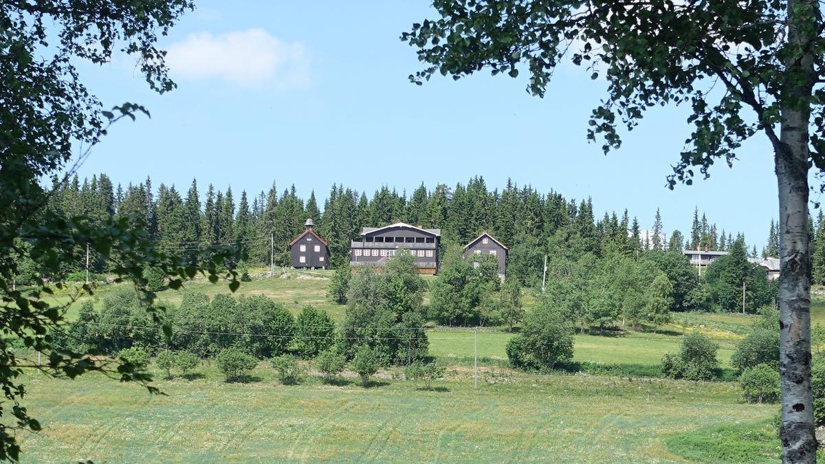 eiendom for utleie - ligger høyt oppe ved skogkanten