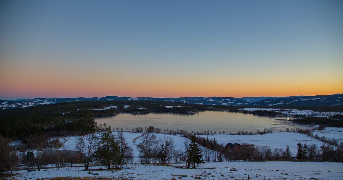 Panoramautsikten fra Ullsaker utleiehytte