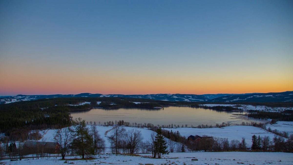 Utsikt fra møtelokalet på Ullsaker Panorama