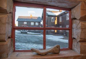 Utsikt fra vindu i Stabburet på Ullsaker Panorama