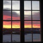 Den fargerike himmelen er ofte å se fra Ullsaker